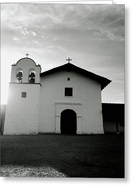 Chapel In The Shadows- Art By Linda Woods Greeting Card
