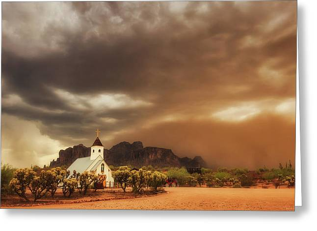Chapel In The Storm Greeting Card