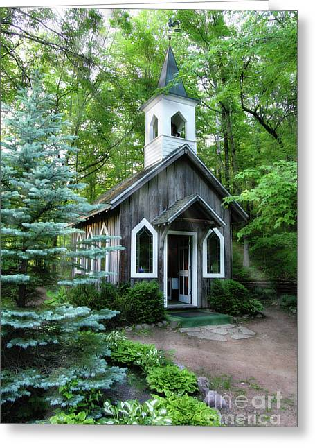 Chapel In The Woods Greeting Card