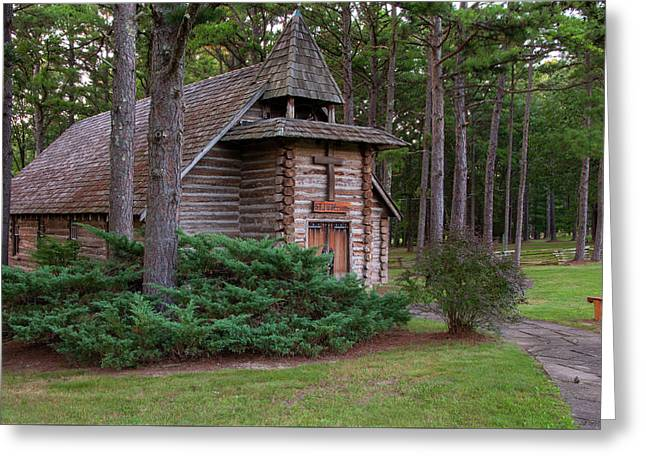Chapel In The Woods Greeting Card by Steve Stuller