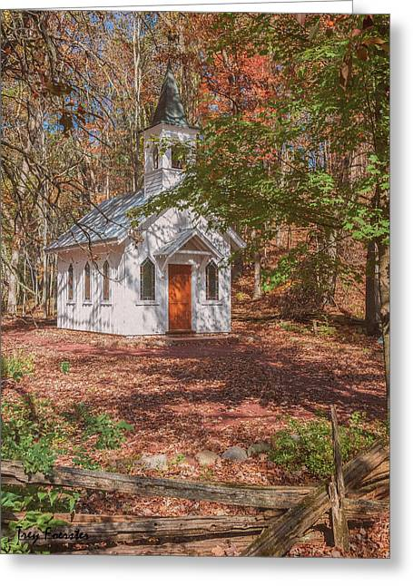 Chapel In Woods At Red Mill 3 Greeting Card