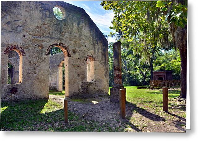 Chapel Of Ease St. Helena Island Beaufort Sc 5 Greeting Card by Lisa Wooten