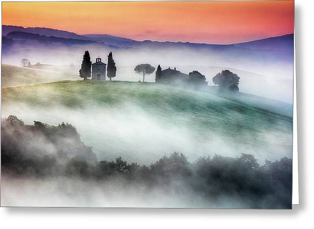 Chapel Of Our Lady Of Vitaleta Greeting Card by Evgeni Dinev