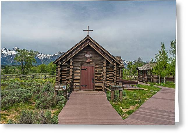 Chapel Of The Transfiguration Episcopal In Grand Teton National Park Greeting Card by Willie Harper