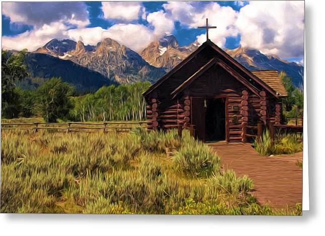 Chapel Of The Transfiguration - Painted Greeting Card by Don Keisling