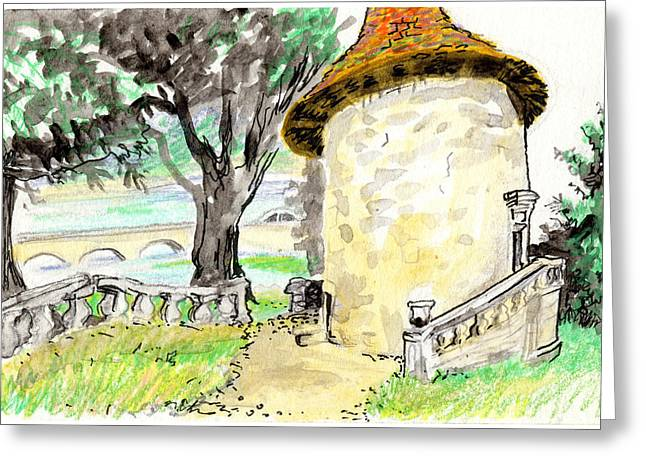 Chapel On Estate River Greeting Card