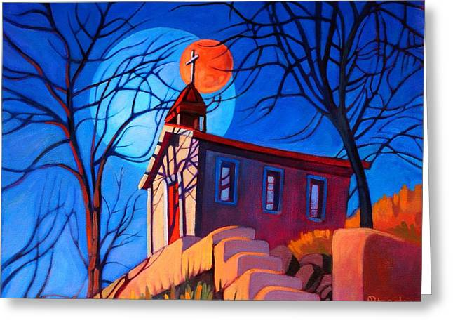 Chapel On The Hill Greeting Card