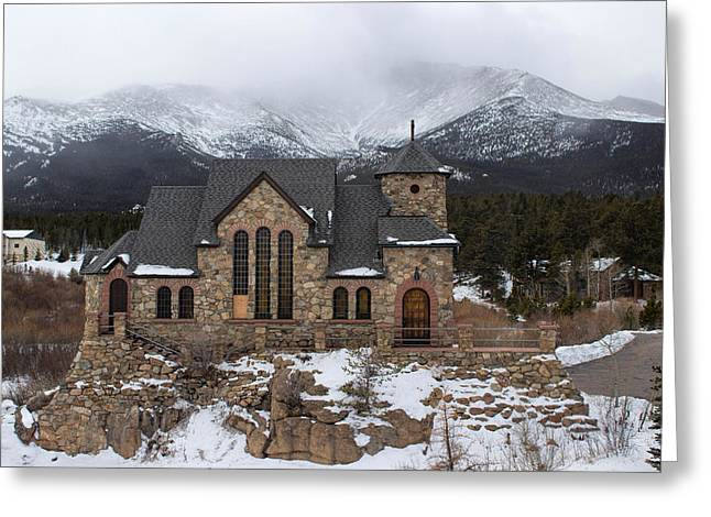 Chapel On The Rock Greeting Card by Becca Buecher