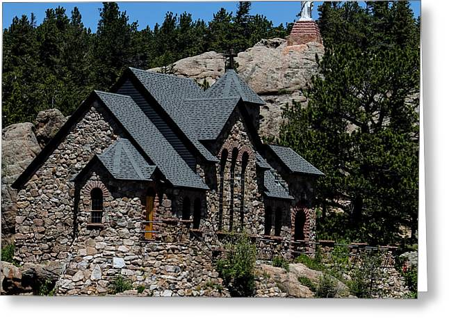 Chapel On The Rock In Allenspark Colorado Greeting Card by David Oppenheimer
