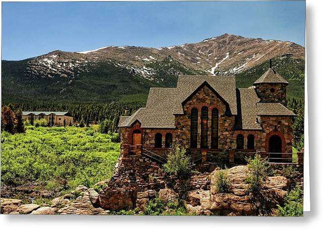 Chapel On The Rocks 2 - Colorado Greeting Card by Judy Vincent