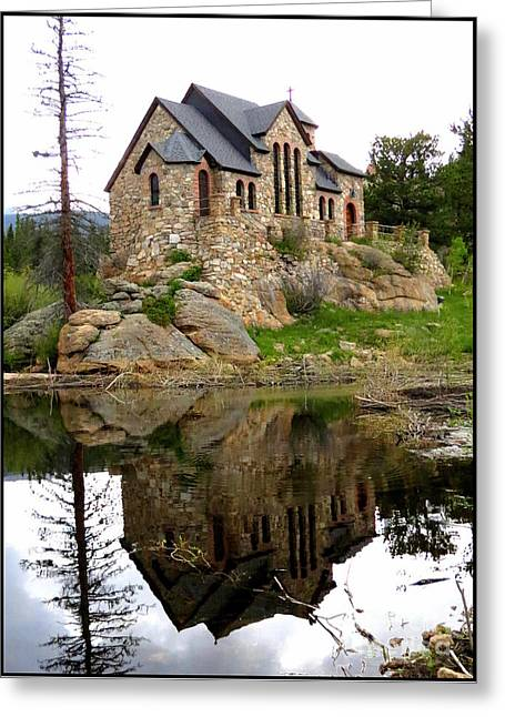 Chapel On The Rocks Greeting Card by Diane M Dittus