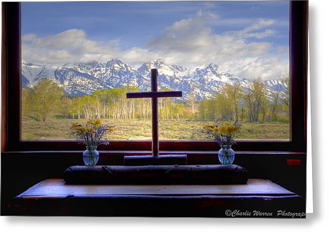 Chapel With A View Greeting Card