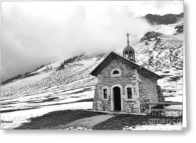 Chapelle Des Aravis Greeting Card by Olivier Le Queinec