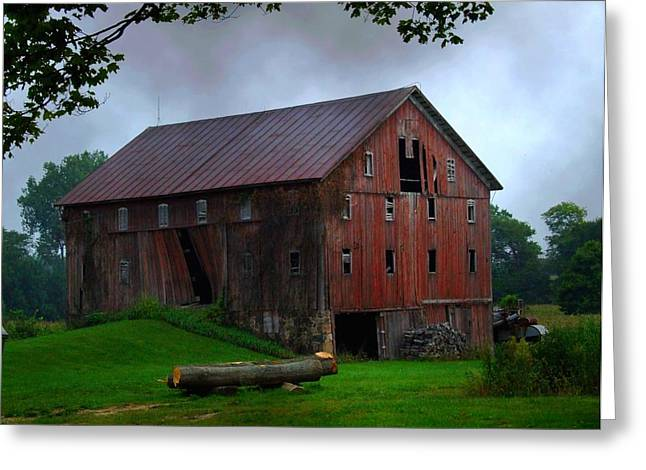 Chapman Lake Barn Greeting Card
