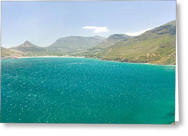 Chapmans Peak Drive To Panoramic View Greeting Card by Panoramic Images