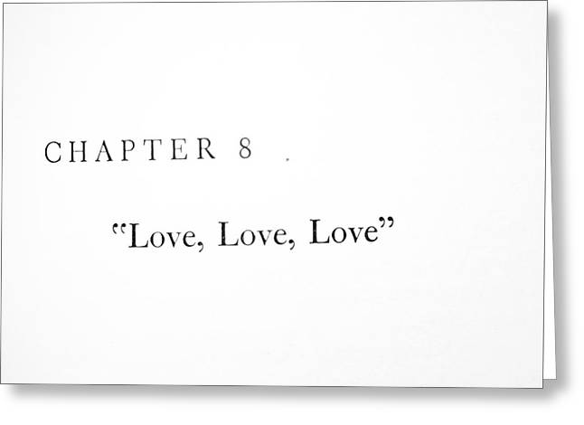 Chapter 8 Love Love Love Squared Greeting Card