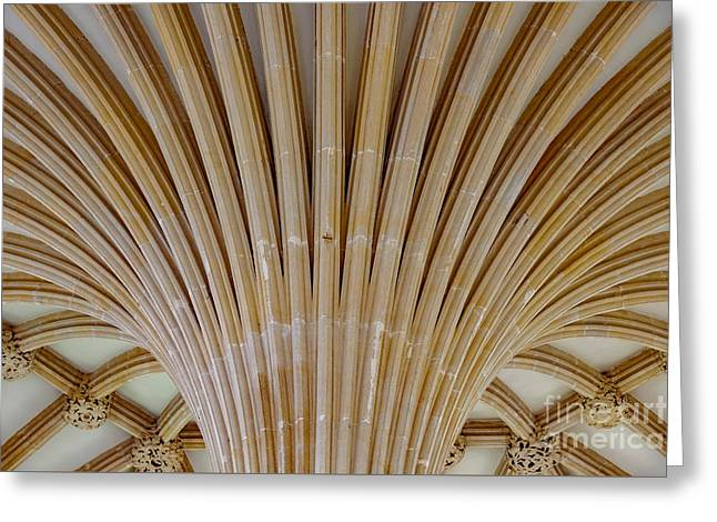 Chapter House Ceiling, Wells Cathedral. Greeting Card