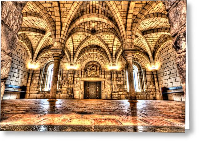 Chapter House Worcester Art Museum Greeting Card by Monica Wellman