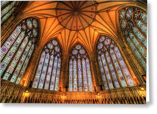 Chapter House York Minster Greeting Card