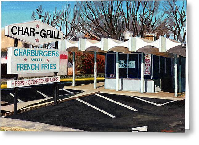 Char Grill Hillsborough St Greeting Card