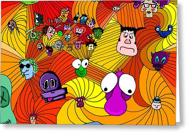 Character In Color Greeting Card by Jera Sky
