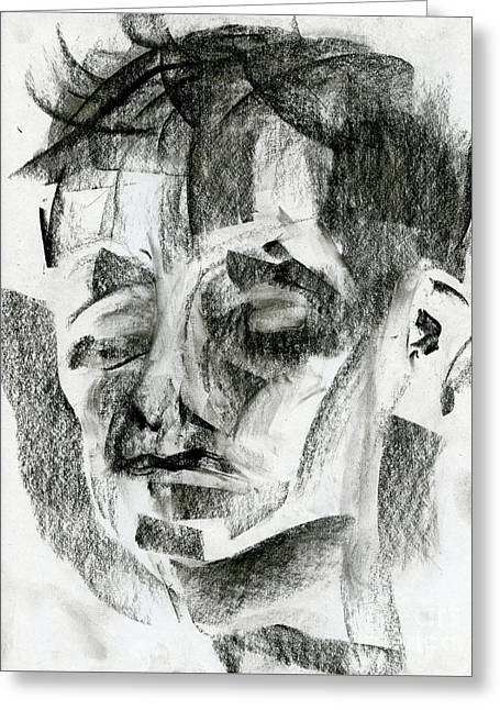 Charcoal Sketch Greeting Card by Edward Fielding