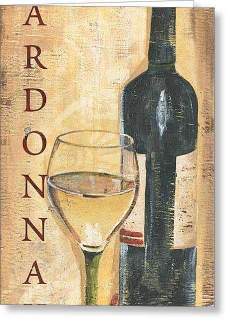 Chardonnay Wine And Grapes Greeting Card