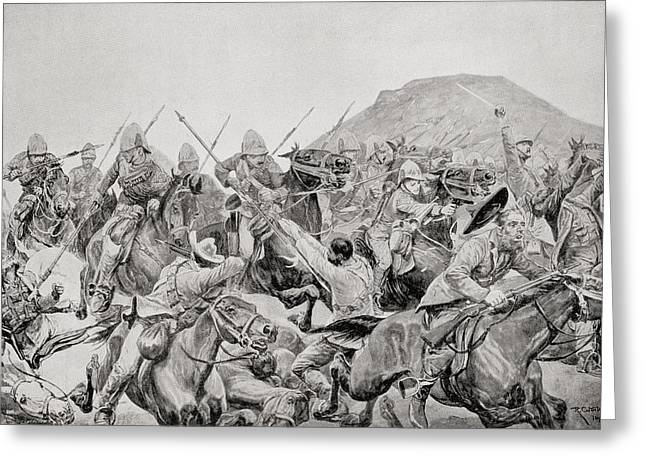 Charge Of The 5th Lancers At The Battle Greeting Card