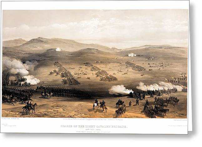 Charge Of The Light Brigade Greeting Card by William Simpson