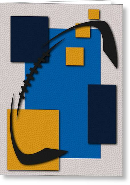 Chargers Football Art Greeting Card