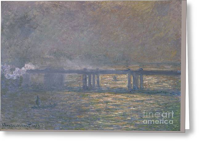 Charing Cross Bridge Greeting Card by Celestial Images
