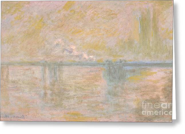 Charing-cross Bridge In London Greeting Card by Celestial Images