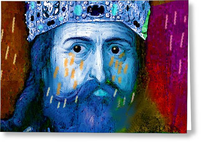 Charlemagne Crying For Faithless Europa Greeting Card by Paul Sutcliffe