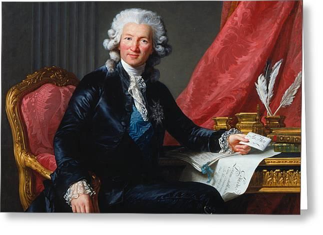 Charles-alexandre De Calonne Greeting Card