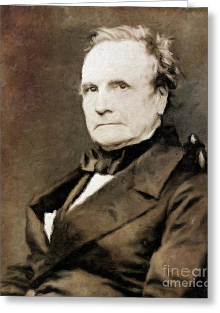 Charles Babbage, Inventor By Mary Bassett Greeting Card by Mary Bassett