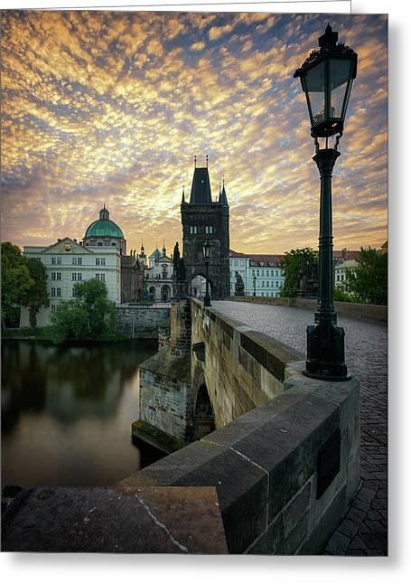 Charles Bridge, Prague, Czech Republic Greeting Card