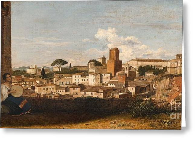 A View Of Rome Greeting Card by MotionAge Designs