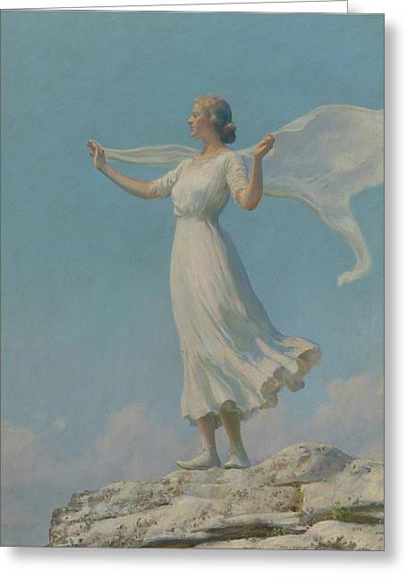 Charles Courtney Curran Greeting Card