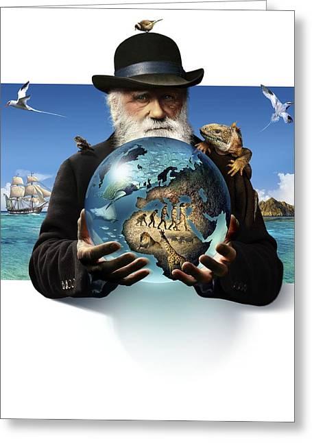 Charles Darwin, British Naturalist Greeting Card by Smetek