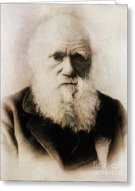 Charles Darwin, Scientist By Mary Bassett Greeting Card