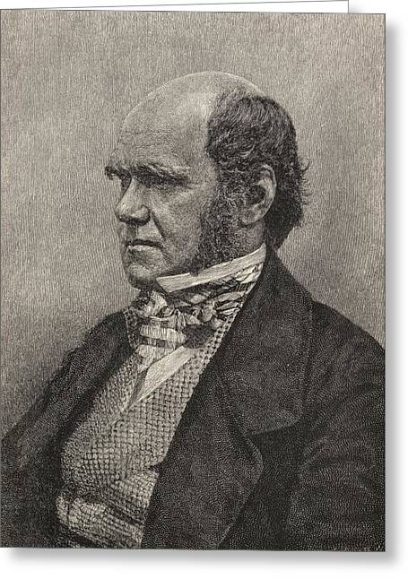 Charles Darwin,1809  1882 Aged 45 Greeting Card by Vintage Design Pics