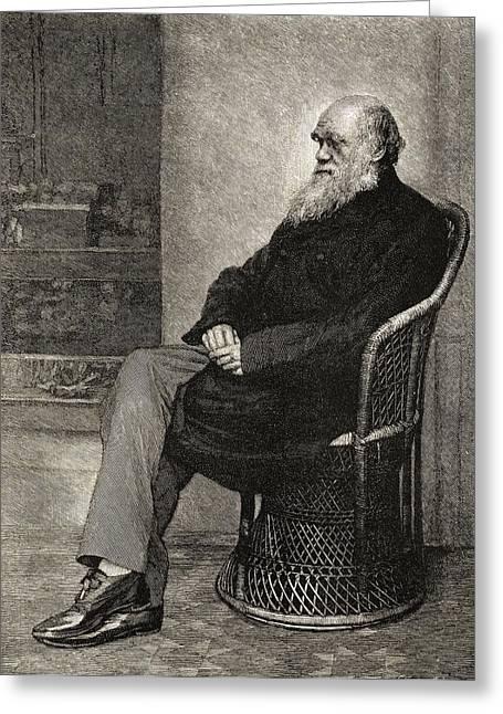 Charles Darwin,1809  1882. British Greeting Card by Vintage Design Pics