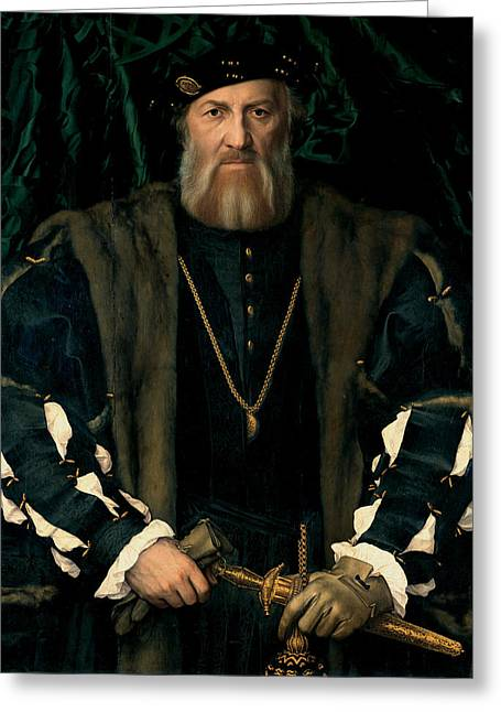 Charles De Solier Sieur De Morette  Greeting Card by Hans Holbein the Younger
