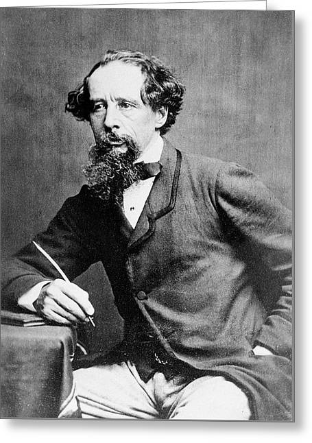 Charles Dickens Greeting Card by Herbert Watkins