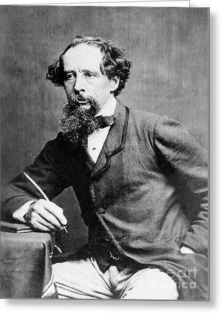 Charles Dickens Greeting Card by Herbert Watkins