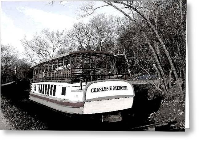 Charles E Mercer - Great Falls Md Greeting Card by Fareeha Khawaja