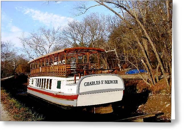 Charles E Mercer Boat - Great Falls Md Greeting Card by Fareeha Khawaja