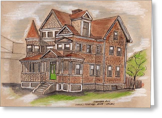Charles Fairfield House Salem Greeting Card by Paul Meinerth