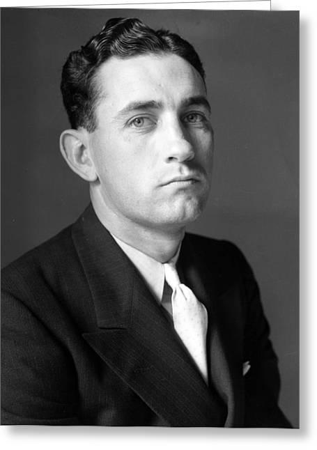 Charles Gehringer Detroit Tigers Hall Of Famer. Studio 1934 Greeting Card