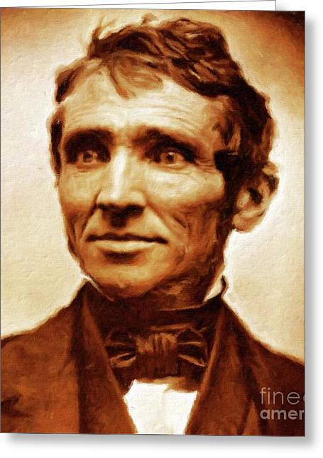 Charles Goodyear, Engineer By Mary Bassett Greeting Card by Mary Bassett